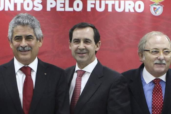 Rui Gomes da Silva ladeado de LFV e Alcino António
