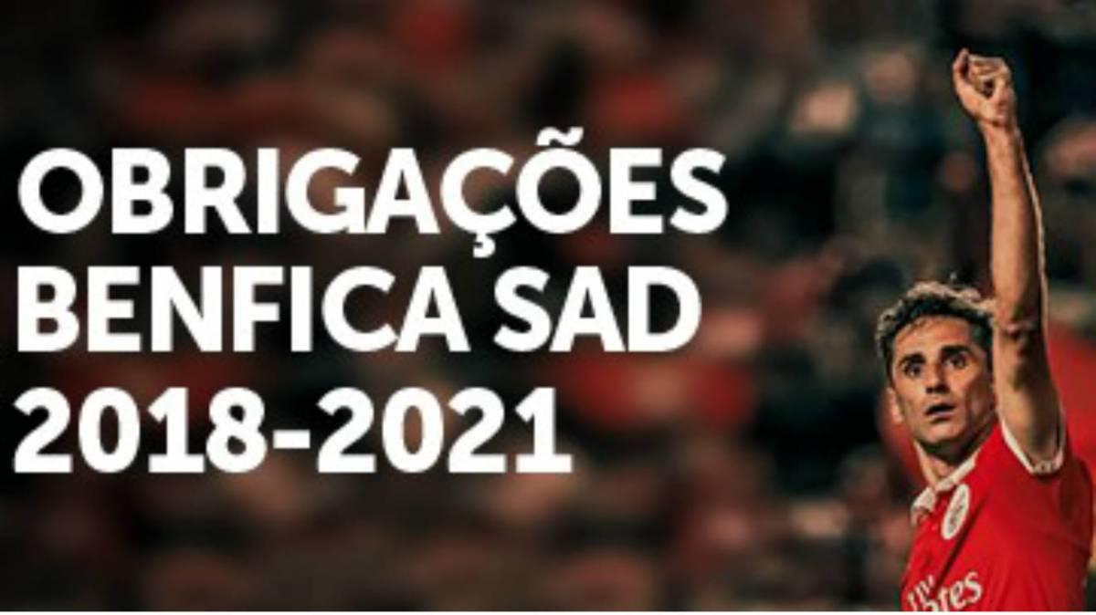 Benfica SAD 2018-2021: Resultados das obrigações serão públicos na próxima 2ª feira