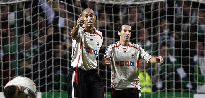 Benfica players (From L) Luisao, Petit a